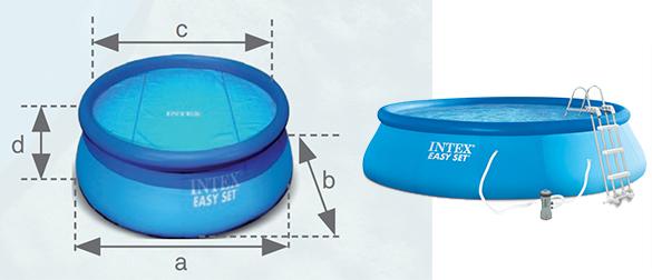 piscine autoport e intex 4 57 m x 1 07 m filtration. Black Bedroom Furniture Sets. Home Design Ideas