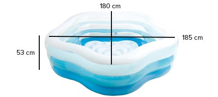 dimensions piscine toile intex 56495