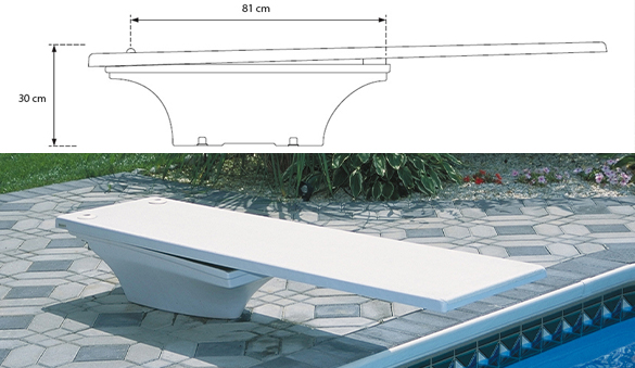 Plongeoir piscine flyte deck 2 srsmith 1 83 m for Piscine plongeoir