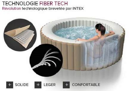spa gonflable intex purespa octogonal bulles jets 6 places accessoires. Black Bedroom Furniture Sets. Home Design Ideas
