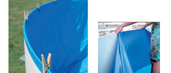 Lineer seul pour piscine composite gr ovale coloris for Cout remplacement liner piscine