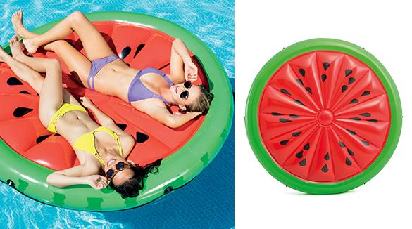 Ile gonflable flottante pour piscine mod le r aliste - Matelas gonflable rond ...