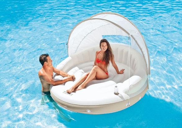 ilot flottant piscine lounge cara bes intex. Black Bedroom Furniture Sets. Home Design Ideas