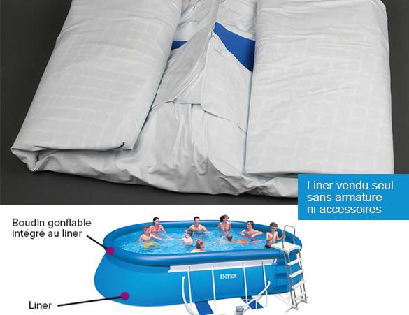 liner seul intex pour piscine ellipse x x 1 22 m. Black Bedroom Furniture Sets. Home Design Ideas