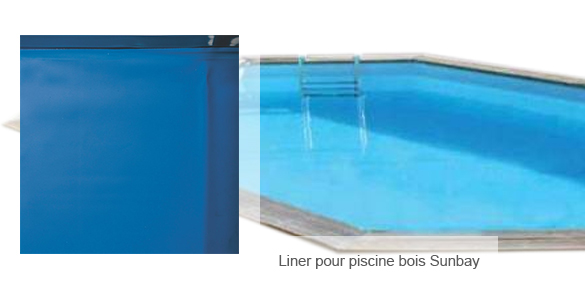 liner bleu pour piscine bois sunbay ovale taille au choix. Black Bedroom Furniture Sets. Home Design Ideas