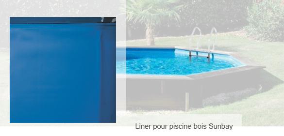 liner seul pour piscine bois gr ronde taille au choix. Black Bedroom Furniture Sets. Home Design Ideas