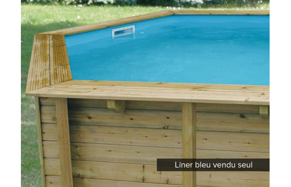 Liner bleu pisicne bois azura ronde 4 1 m ubbink Liner 4 50 x 1 20