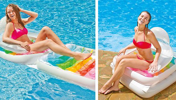 Matelas fauteuil de piscine intex for Fauteuil gonflable piscine intex