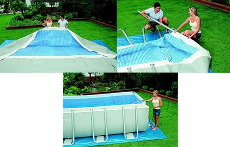 Piscine tubulaire rectangulaire intex 3 x 1 75 x 0 8 m pas - Montage piscine intex rectangulaire ...