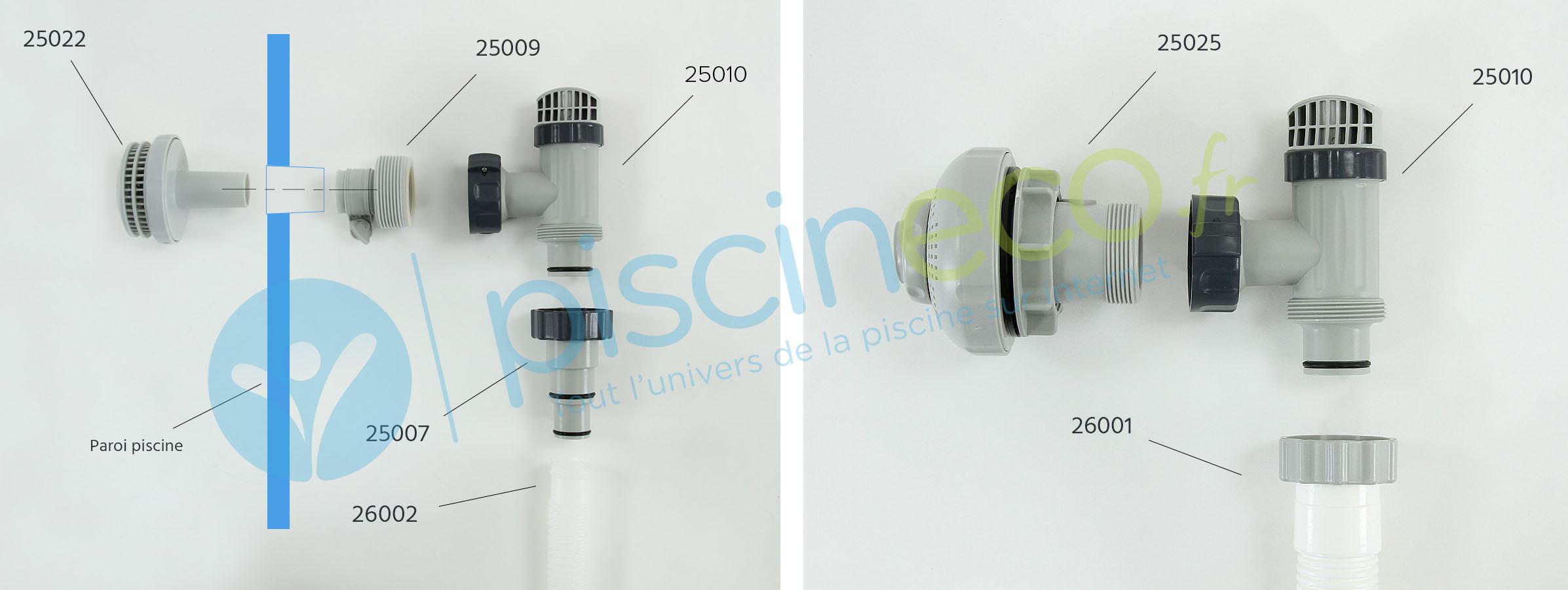 vanne d arrêt Piscine Hors Sol 8/8mm bazis.az
