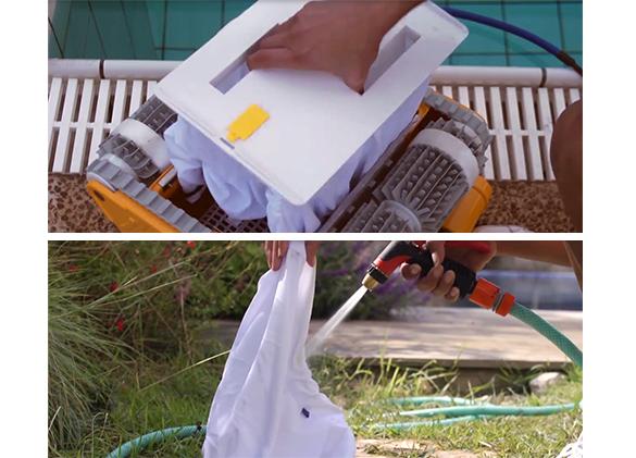 Robot de piscine lectrique dolphin pro x2 pour grandes for Nettoyage filtre piscine