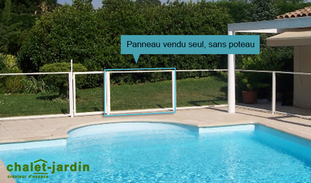 Panneau transparent pour barri re de s curit piscine 96 x for Panneau piscine