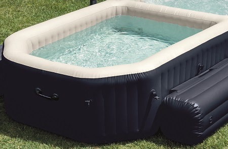 Spa gonflable intex purespa 4 places piscine bulles for Piscine et spa