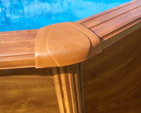 Piscine acier gr mod le sicilia ovale aspect bois 5 x 3 x for Piscine acier aspect bois