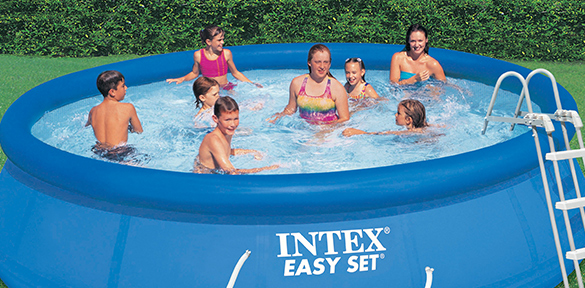 Piscine autoport e intex 4 57 m x 1 07 m filtration for Piscine autoportante intex