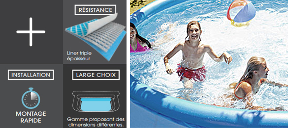 piscine autoportee ronde intex easy set