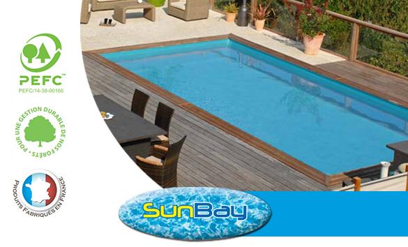 piscine bois sunbay braga 8 x 4 x 1 46 m filtration. Black Bedroom Furniture Sets. Home Design Ideas