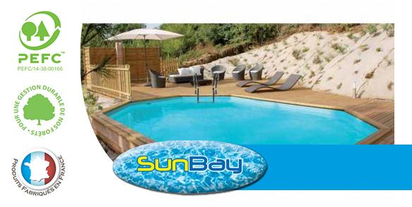 piscine bois sunbay mod le safran 6 37 x 4 12 x 1 33 m