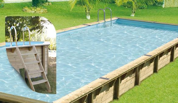 piscine bois rectangulaire lin a 11 x 5 m ubbink. Black Bedroom Furniture Sets. Home Design Ideas