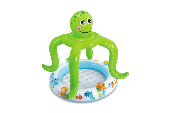 piscine gonflable intex mod le pieuvre avec pare soleil int gr. Black Bedroom Furniture Sets. Home Design Ideas