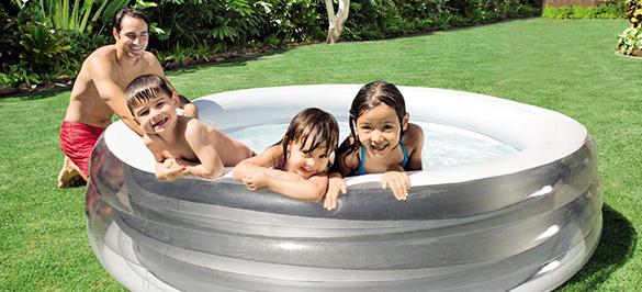 piscine gonflable intex ronde mod le quartz prix mini. Black Bedroom Furniture Sets. Home Design Ideas