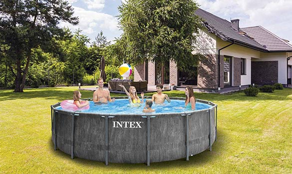 Piscine tubulaire intex ronde baltik 5 49 x 1 22 m - Filtration piscine hors sol intex ...