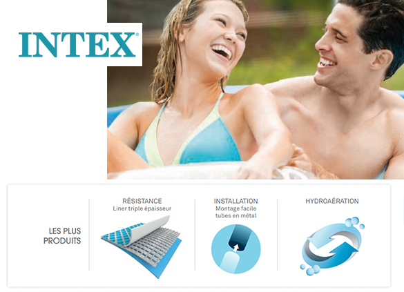 piscine tubulaire metal frame ronde intex