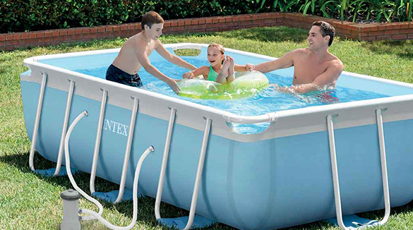 piscine tubulaire rectangle prism frame intex
