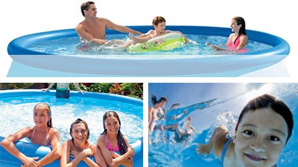 Piscine tubulaire intex ronde 3 05 x 0 76 m for Piscine intex tubulaire en solde