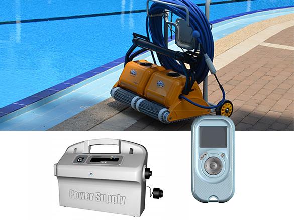 Robot de piscine lectrique dolphin 2x2 pro gyro pour for Robot piscine electrique dolphin