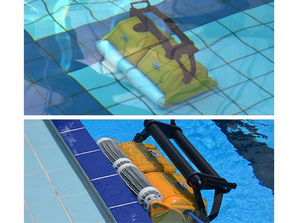 Robot de piscine lectrique dolphin 2x2 pro gyro pour - Robot nettoyage piscine ...