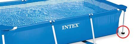 10 sabots pour piscine tubulaire rectangulaire intex bleue - Intex piscine tubulaire rectangulaire ...