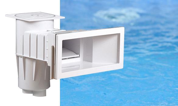 Skimmer premium blanc grande meurtri re pour piscine b ton for Trop de chlore piscine