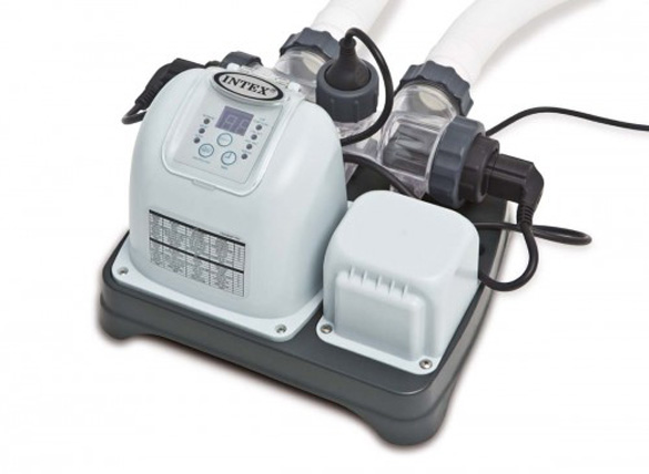 Electrolyseur au sel intex pour piscine jusqu 39 m pas cher - Electrolyseur piscine moins cher ...
