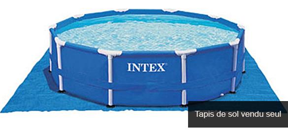 Tapis de sol piscine ronde intex pas cher for Tapis sous piscine