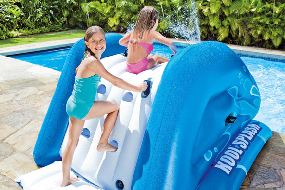 Toboggan gonflable pour piscine enterr e intex prix mini for Tobogan piscina carrefour