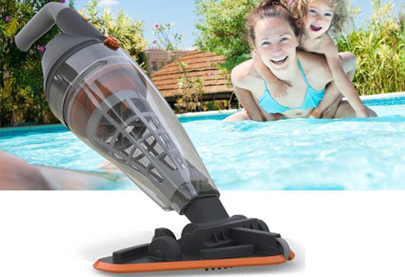 Aspirateur de piscine vektro pro avec batterie int gr e for Filet aspirateur piscine