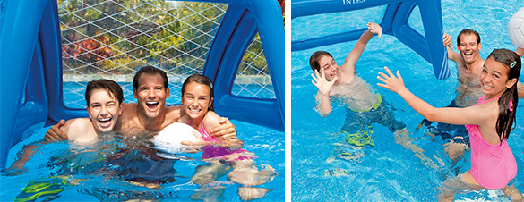 water polo gonflable pour piscine intex